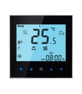Termostat cu Wi-Fi T-SHOV TF-701/W pentru Ventiloconvector 2 tevi