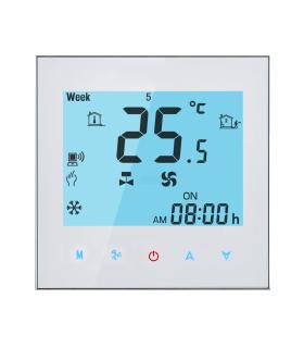 Termostat cu Wi-Fi T-SHOV TF-703/W pentru Ventiloconvector 2 tevi