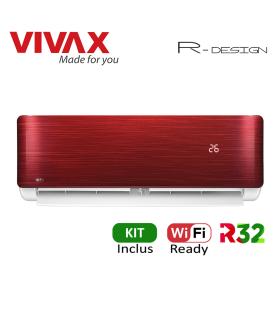 Aer Conditionat VIVAX R-Design ACP-09CH25AERI RED Wi-Fi Ready Kit de instalare inclus R32 Inverter 9000 BTU/h